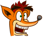 Crash Bandicoot Cel Style practice by Jake1998