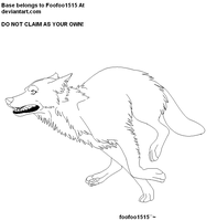 runing wolf base1 by foofoo1515