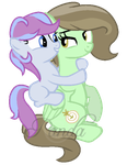 AT: Minty Shot and Icy Violet by iPandacakes
