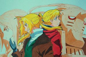 Request - The Elric Brothers by SakakiTheMastermind