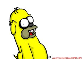 Adventure Time Jake Homer by jeaux
