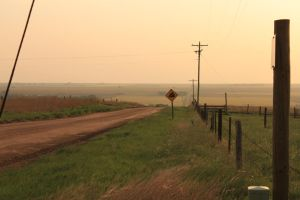 Downhill Rural Kansas by dusthimself