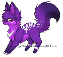 Purple Fox Adopt .:CLOSED:. by KiraNeko813