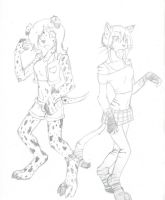 Dalmation and a Cat by RaiinbowRaven
