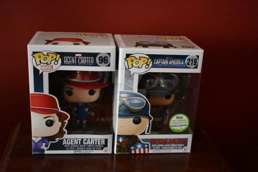Agent Carter and Captain America Funko Pops by k-h116