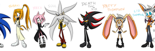 Sonic Characters into Soul Eater Characters by SweetSilvy