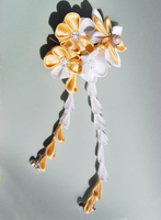 Custom Sugar Cookie Kanzashi. by hanatsukuri