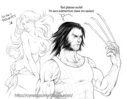 Wolvie Secret Thoughts by cynthiafranca