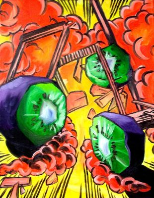 Exploding Kiwis by LucyLooStudios
