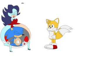 Breezie and Sonic's love (and tails' terror by jessica1133