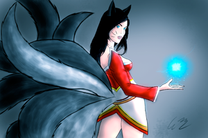 Ahri (League of Legends) by odnam92
