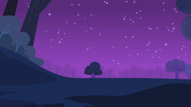 Forest at Night by ZanderalS