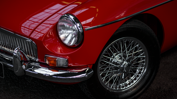 Red MGB Wallpaper by Pierre-Lagarde