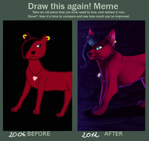 Redraw2012 Red cat by Suzamuri