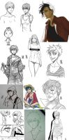 Sketch dump 03. by mkw-no-ossan