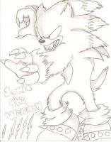 Sonic the werehog by Ponyness1