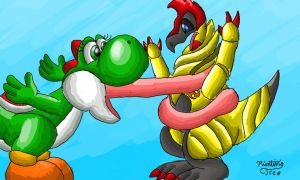 Baby Yoshi story Pt 1/3 by PaintingTree
