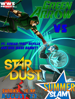 Green Arrow vs Stardust: Summer Slam Smackdown by Oreomega95