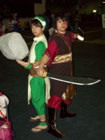 Toph and Zuko by Howlingstar89