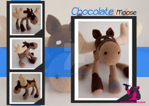Chocolate Moose the moose - Plush by FurryFursuitMaker