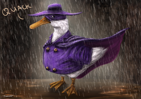 Scientifically Accurate Darkwing Duck by thesadpencil