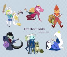 Five Short Tables by PvElephant