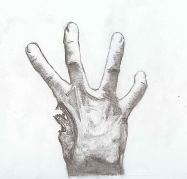 Left 4 Dead Hand Sketch by OneObsessedElf