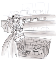 Art Trade:  Supermarket Vampire by Lmih