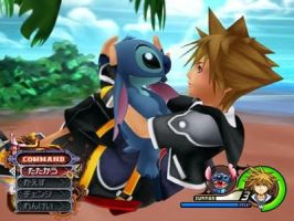 Sora and Stitch-Kingdom Hearts by KH2Lover015