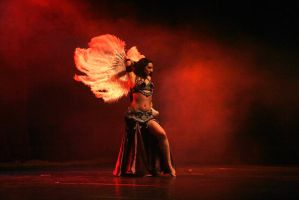 Feather Fan Belly Dance Stock 11 by LoryenZeytin