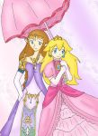 Zelda and Peach by SparxPunx