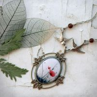 At spes non fracta necklace by BeautySpotCrafts