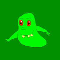 Cute eyed Slimer by SuperSmashCynderLum