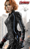 Avengers Age of Ultron Black Widow by billycsk