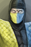 MK's scorpion and sub-zero by monkeydonuts246