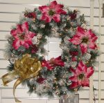 White Holiday Christmas Wreath by FantasyStock