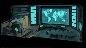 XCOM Situation Room by zombat