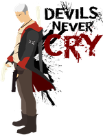 Devils Never Cry - Dante T-Shirt white version by ThE-TarNIshEd