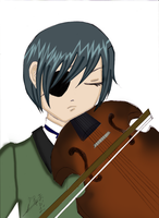 Ciel Violin colored by purplepunchi