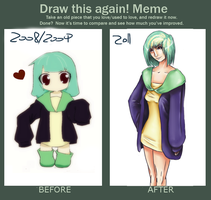 Greenhead's before.after meme by elfuciuke-kira