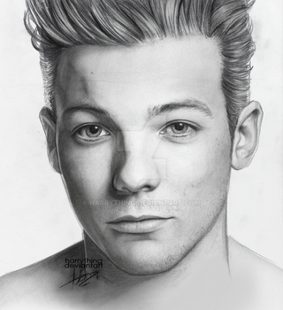 louis tomlinson drawing by harrything