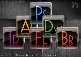 CS3 Black'n Chrome Dock Icons by aurel71