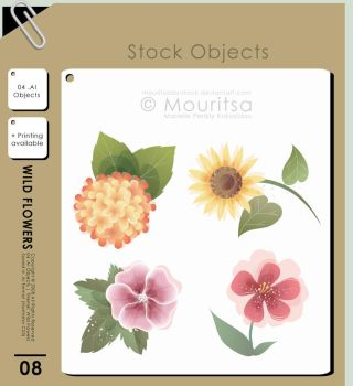 Object Pack - Wild Flowers by MouritsaDA-Stock