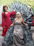 Melisandre and Daenerys by MaddMorgana