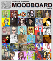 handdrawn moodboard by javvie