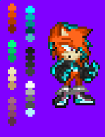 My new fan character: Xenon The TronHedgehog! by NSMBXomega