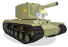 Derpy Finds a KV-2 by MrLolcats17