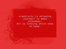 Quotes Series - Creativity by reno-fan-girl