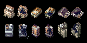 Pixel Buildings (Part 2) by AlbertoV