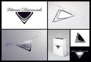Vitanio Diamonds Logo by copperrein
